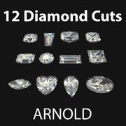 Pakiet Dimaond Cuts - Arnold 3d model
