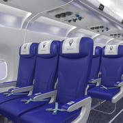 Airplane Interior Economy 3d model