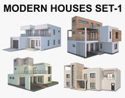 Moderna hus Set_1 3d model