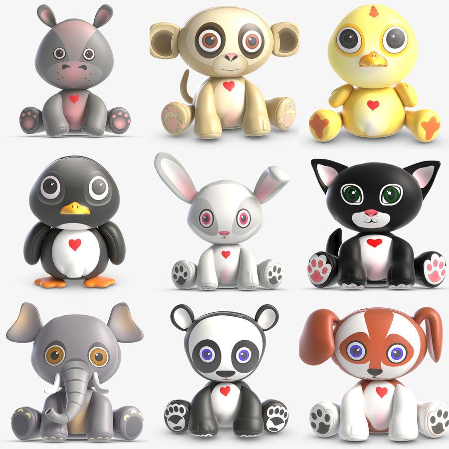 Collezione di giocattoli animali 3 royalty-free 3d model - Preview no. 1