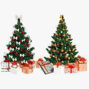 Beautiful Christmas Trees Set V2 3d model