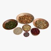 Mix di cereali Bazar 3d model