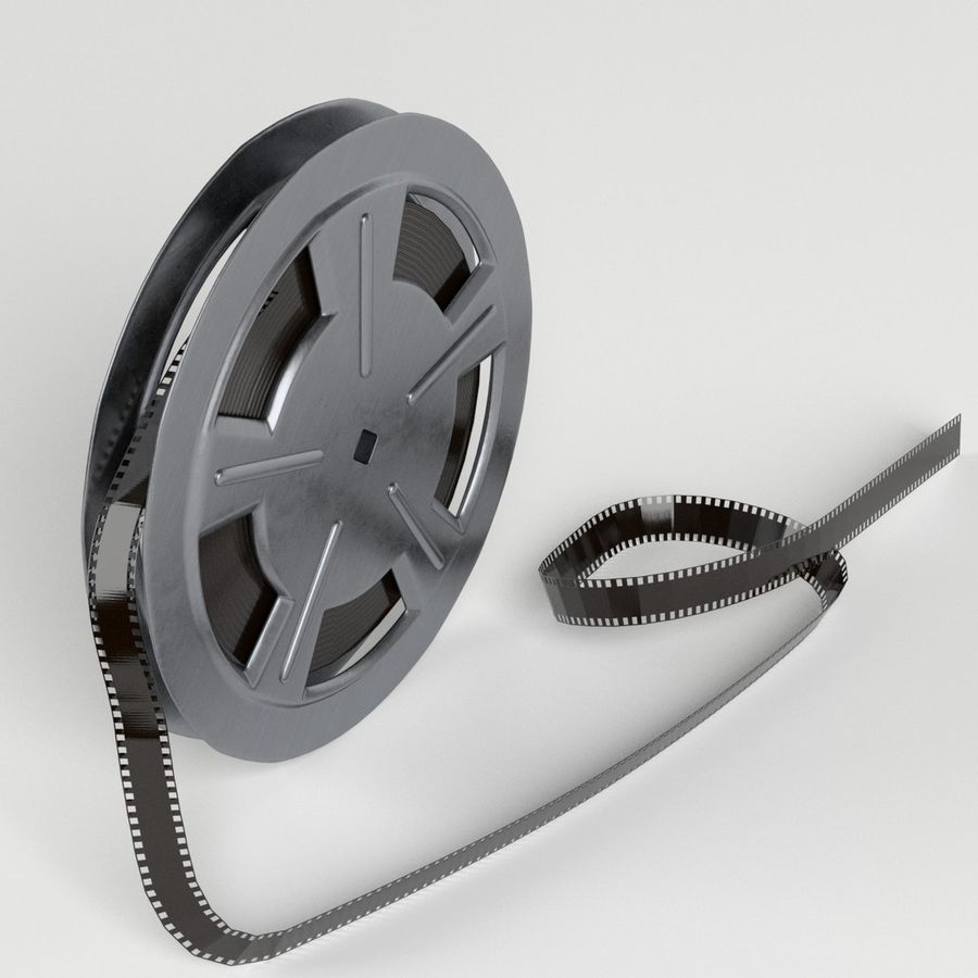 Film Reel royalty-free 3d model - Preview no. 2