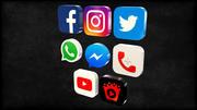 iconos de redes sociales modelo 3d