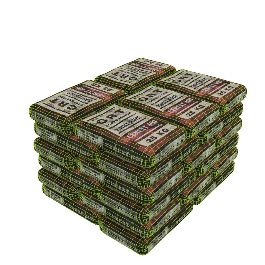 セメントの袋 royalty-free 3d model - Preview no. 5