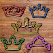 Crown cookie cutter set 3d model
