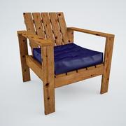 Простое кресло для отдыха на открытом воздухе 3d model