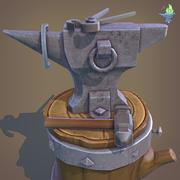 Набор наковальни кузнеца 3d model