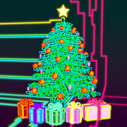 Neon Holiday Tree 3d model