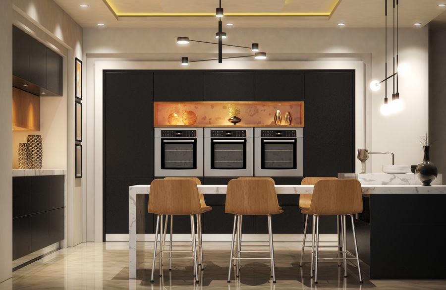 Cocina moderna royalty-free modelo 3d - Preview no. 2