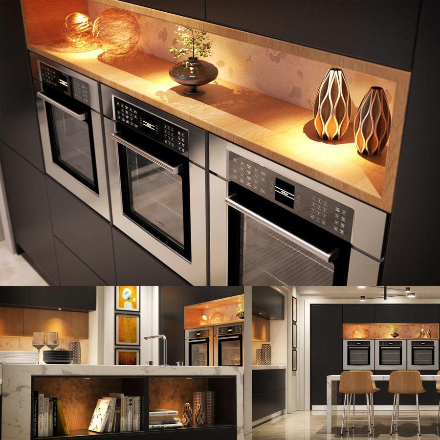 Cocina moderna royalty-free modelo 3d - Preview no. 18