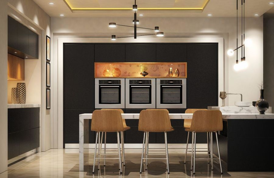 Cocina moderna royalty-free modelo 3d - Preview no. 16