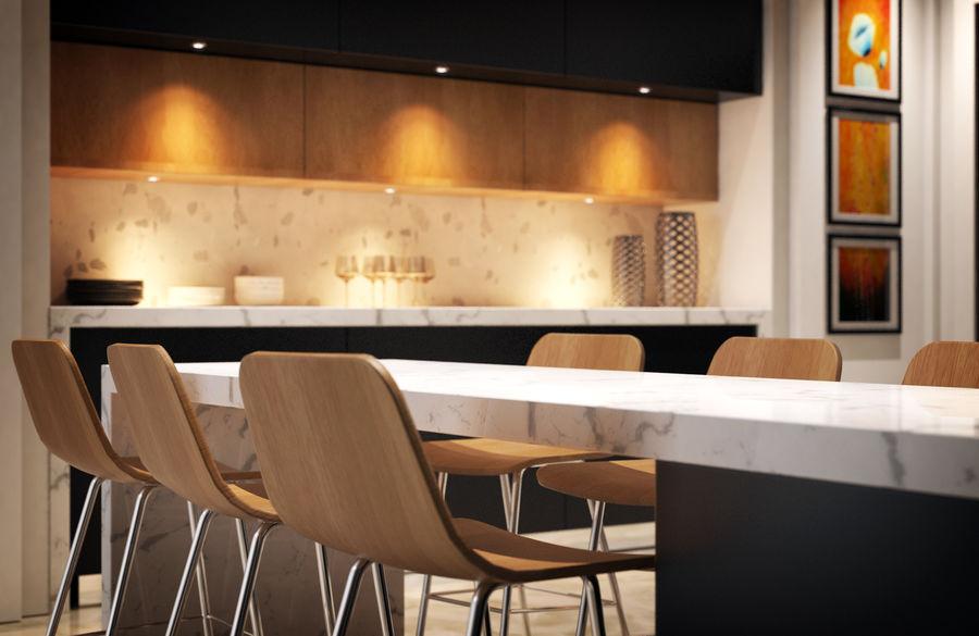 Cocina moderna royalty-free modelo 3d - Preview no. 6