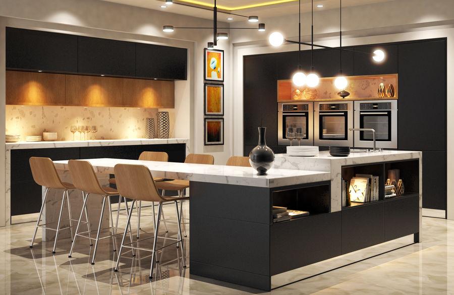 Cocina moderna royalty-free modelo 3d - Preview no. 1