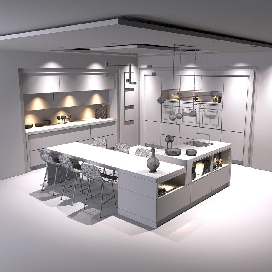 Cocina moderna royalty-free modelo 3d - Preview no. 19