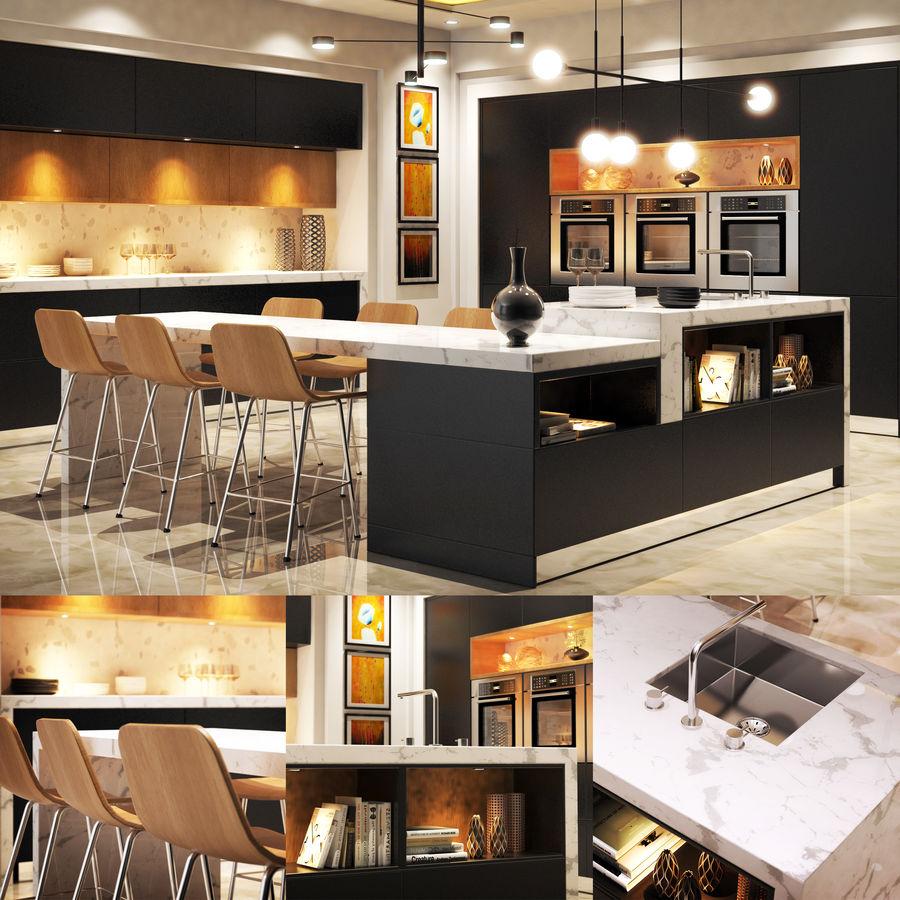 Cocina moderna royalty-free modelo 3d - Preview no. 17
