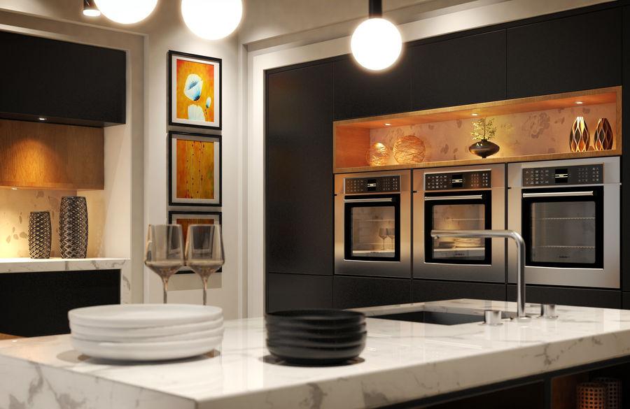 Cocina moderna royalty-free modelo 3d - Preview no. 4