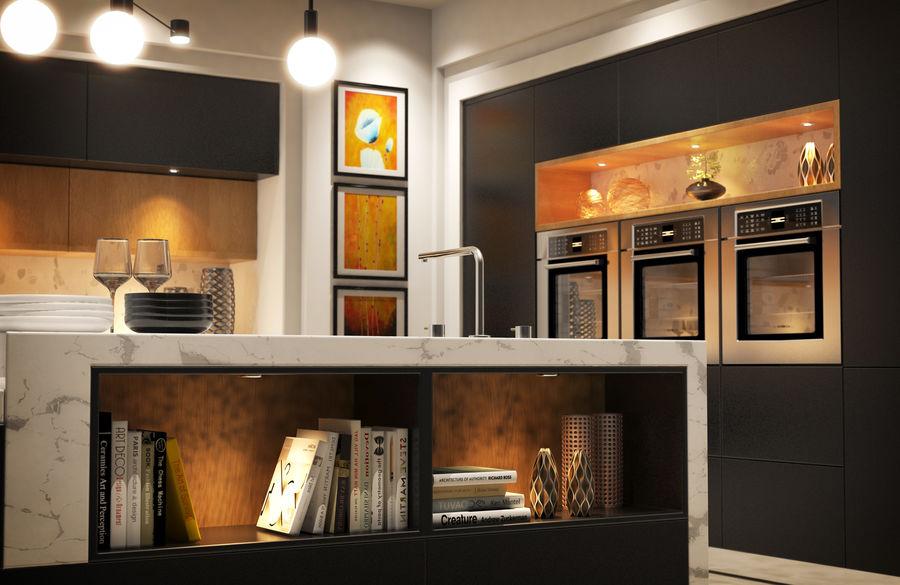 Cocina moderna royalty-free modelo 3d - Preview no. 5