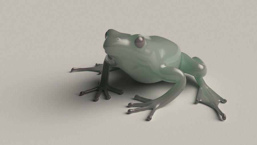 カエルの低ポリベースメッシュ royalty-free 3d model - Preview no. 2