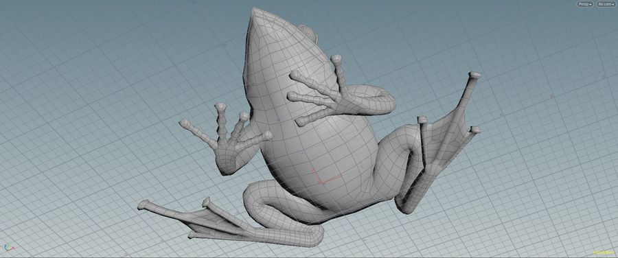 カエルの低ポリベースメッシュ royalty-free 3d model - Preview no. 7