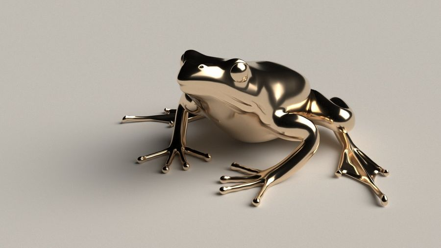 カエルの低ポリベースメッシュ royalty-free 3d model - Preview no. 3