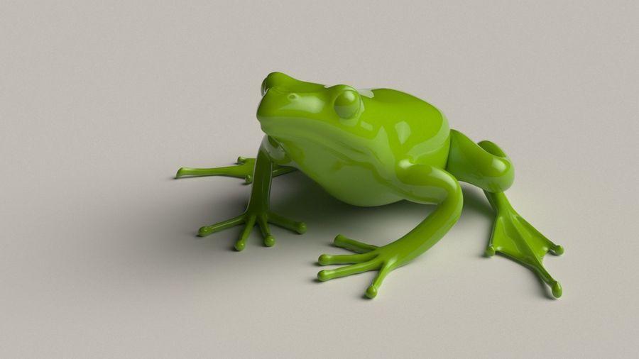 カエルの低ポリベースメッシュ royalty-free 3d model - Preview no. 1