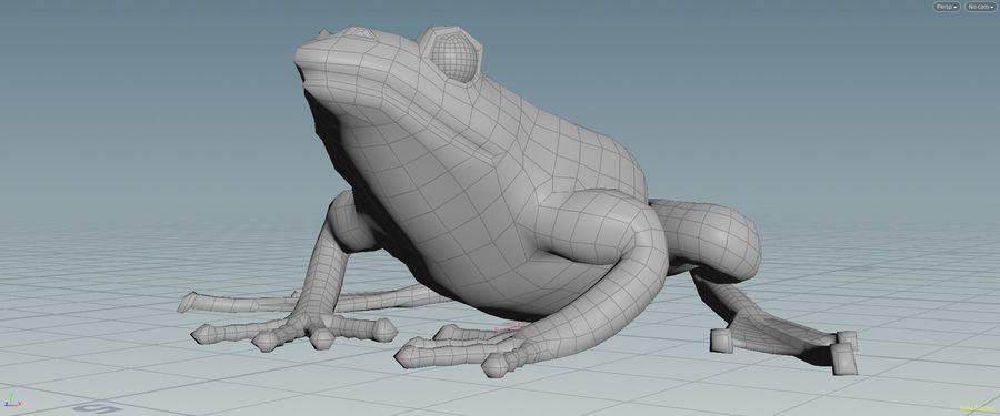 カエルの低ポリベースメッシュ royalty-free 3d model - Preview no. 8