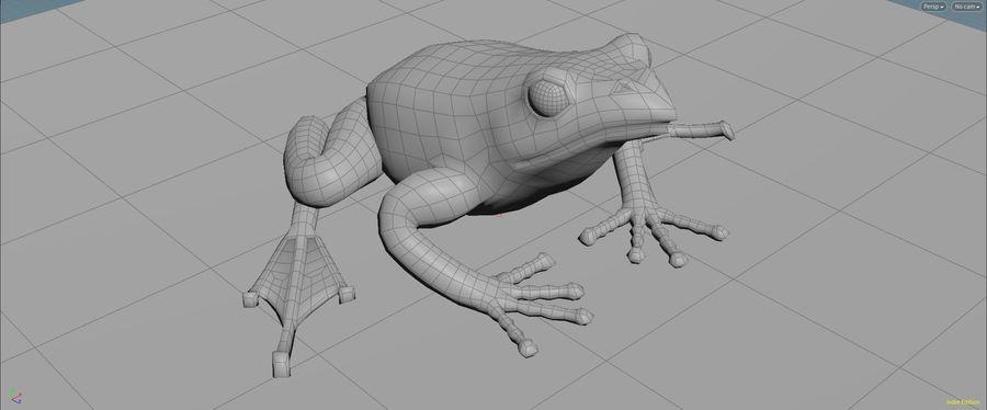 カエルの低ポリベースメッシュ royalty-free 3d model - Preview no. 5