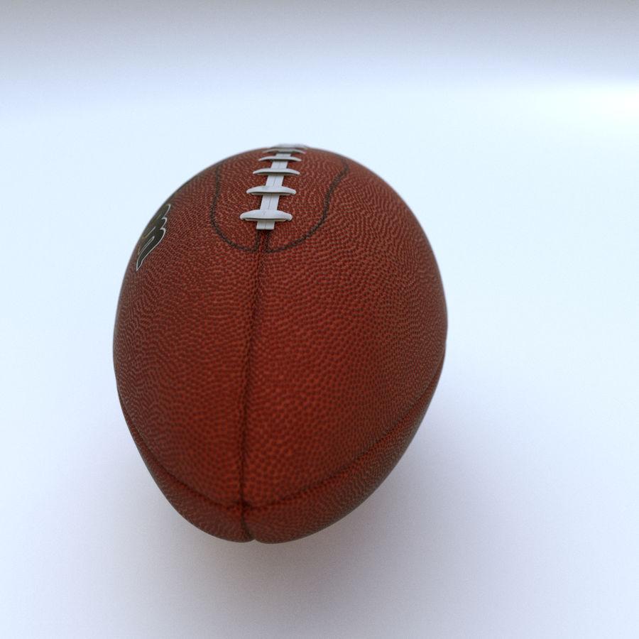 Американский футбол (мяч) royalty-free 3d model - Preview no. 3