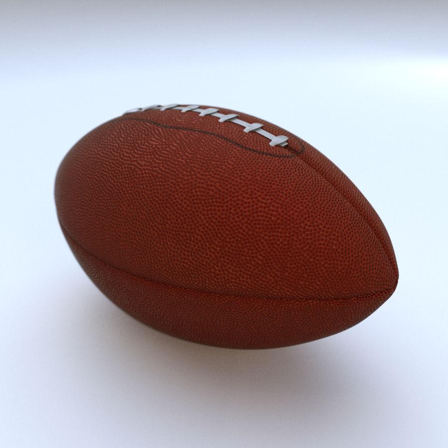 Американский футбол (мяч) royalty-free 3d model - Preview no. 1