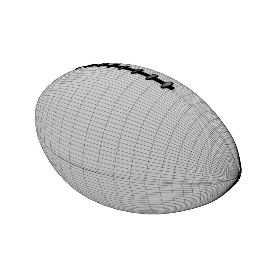 Американский футбол (мяч) royalty-free 3d model - Preview no. 7