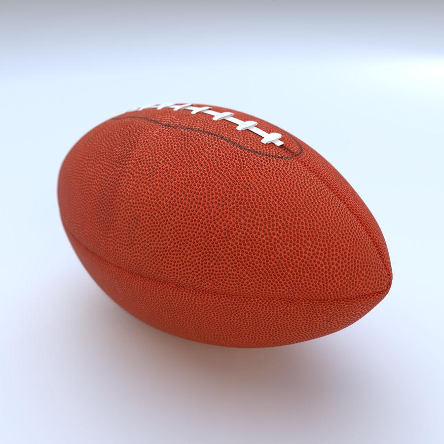 Американский футбол (мяч) royalty-free 3d model - Preview no. 5