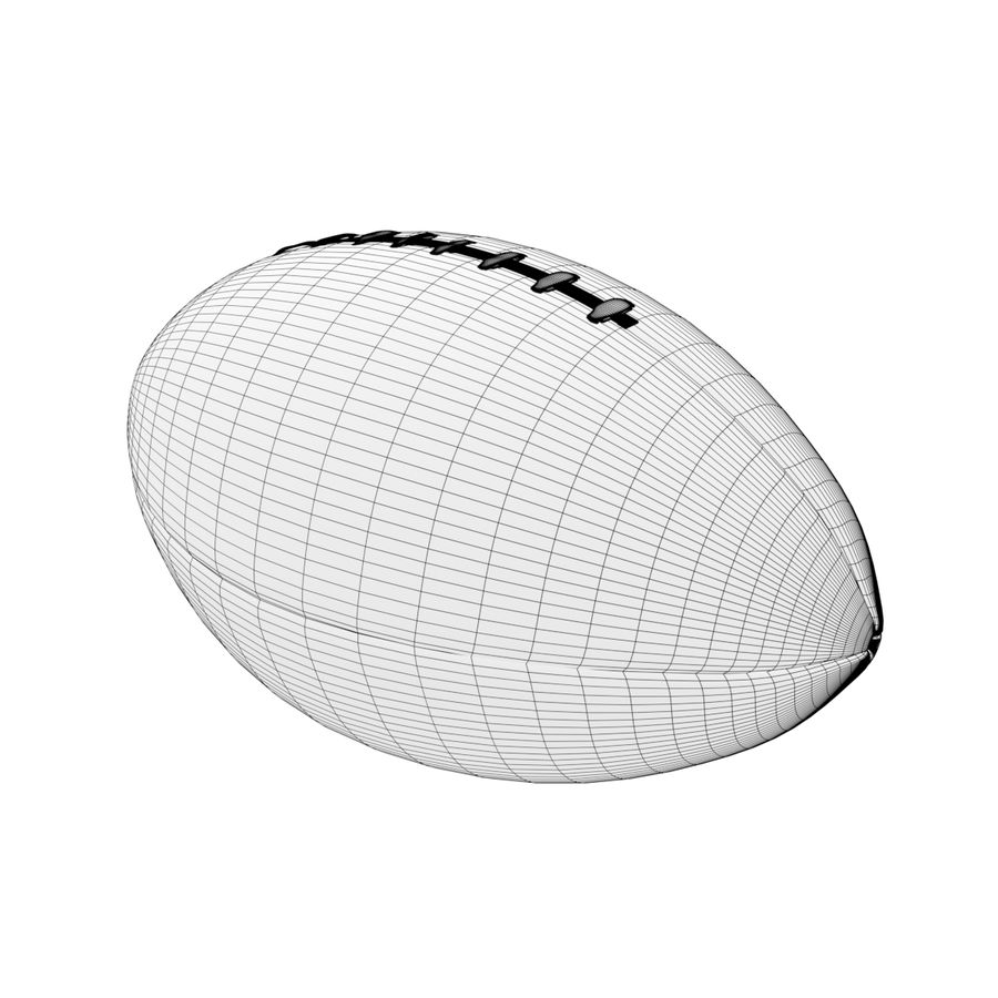 Американский футбол (мяч) royalty-free 3d model - Preview no. 6