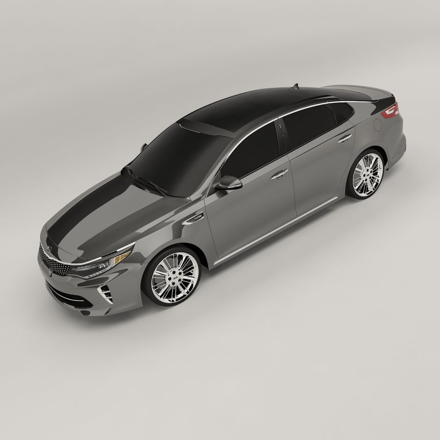 Kia Optima 2017 royalty-free 3d model - Preview no. 1