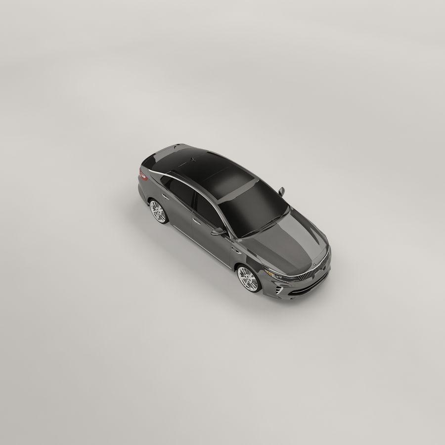 Kia Optima 2017 royalty-free 3d model - Preview no. 9