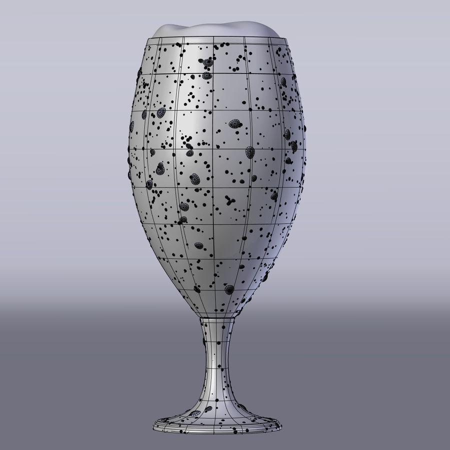 ビールグラス royalty-free 3d model - Preview no. 3
