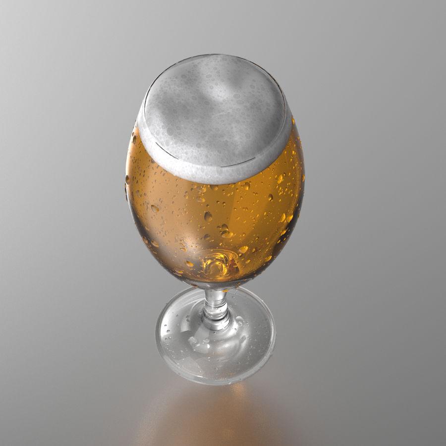 ビールグラス royalty-free 3d model - Preview no. 5