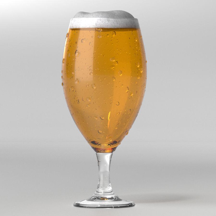 ビールグラス royalty-free 3d model - Preview no. 1