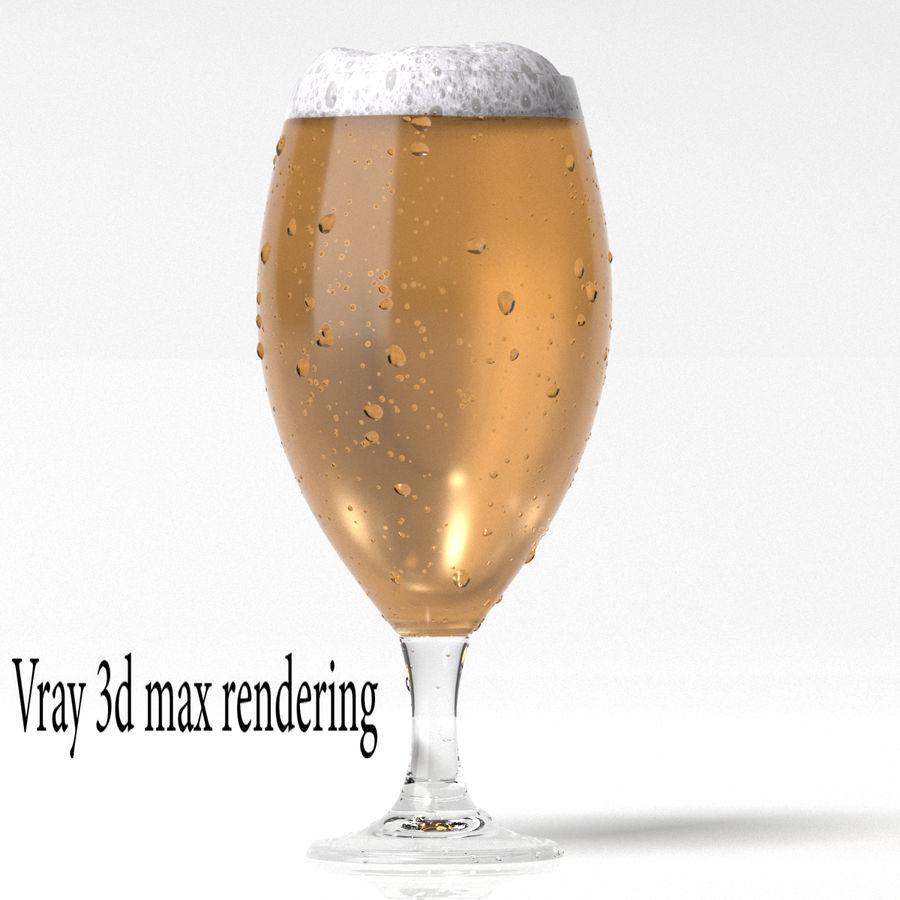 ビールグラス royalty-free 3d model - Preview no. 2