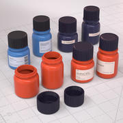 実験室診断ボトル3Dモデル 3d model