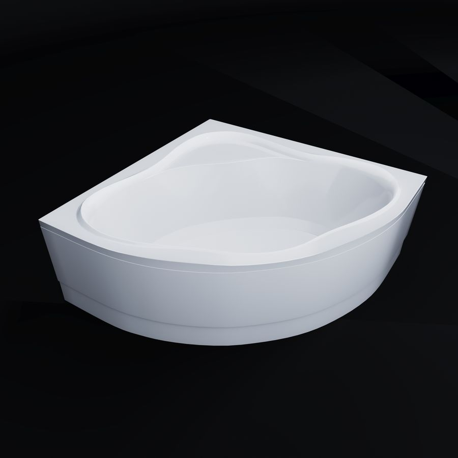 Acrylic corner bath NewDay royalty-free 3d model - Preview no. 1