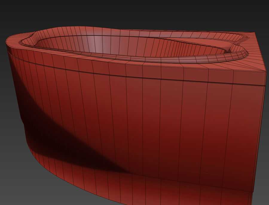 Acrylic corner bath NewDay royalty-free 3d model - Preview no. 8