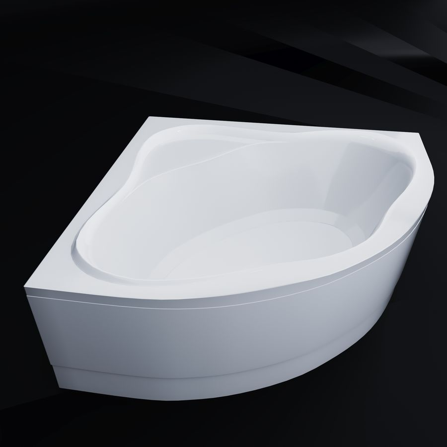 Acrylic corner bath NewDay royalty-free 3d model - Preview no. 2
