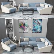 conjunto de sofás modernos modelo 3d