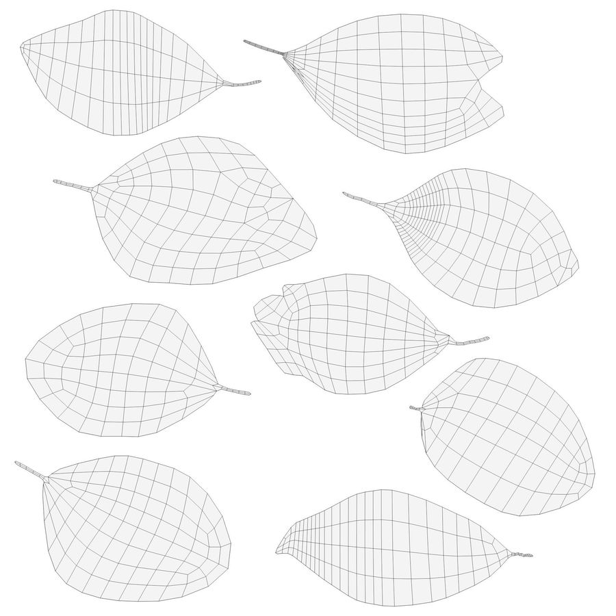 Dead leaves module royalty-free 3d model - Preview no. 11