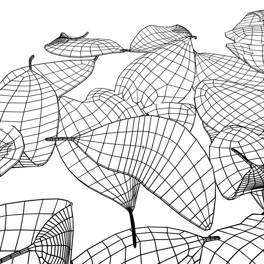 Dead leaves module royalty-free 3d model - Preview no. 8