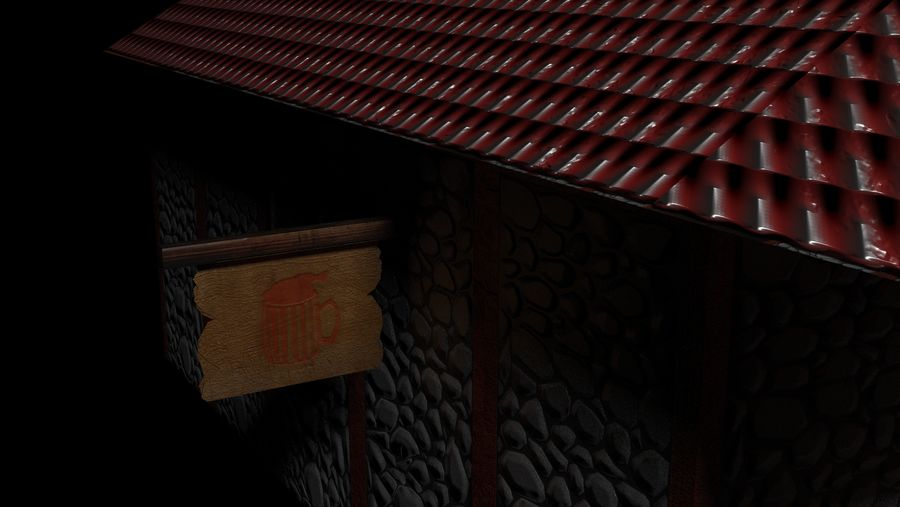 Fantasy Tavern royalty-free 3d model - Preview no. 2