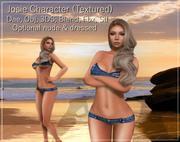 Джози женский персонаж Низкополигональная 3D модель 3d model