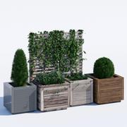 Jardineras modernas cuadradas modelo 3d