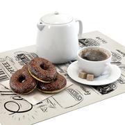 Coffee shop | Donuts set 01 3d model